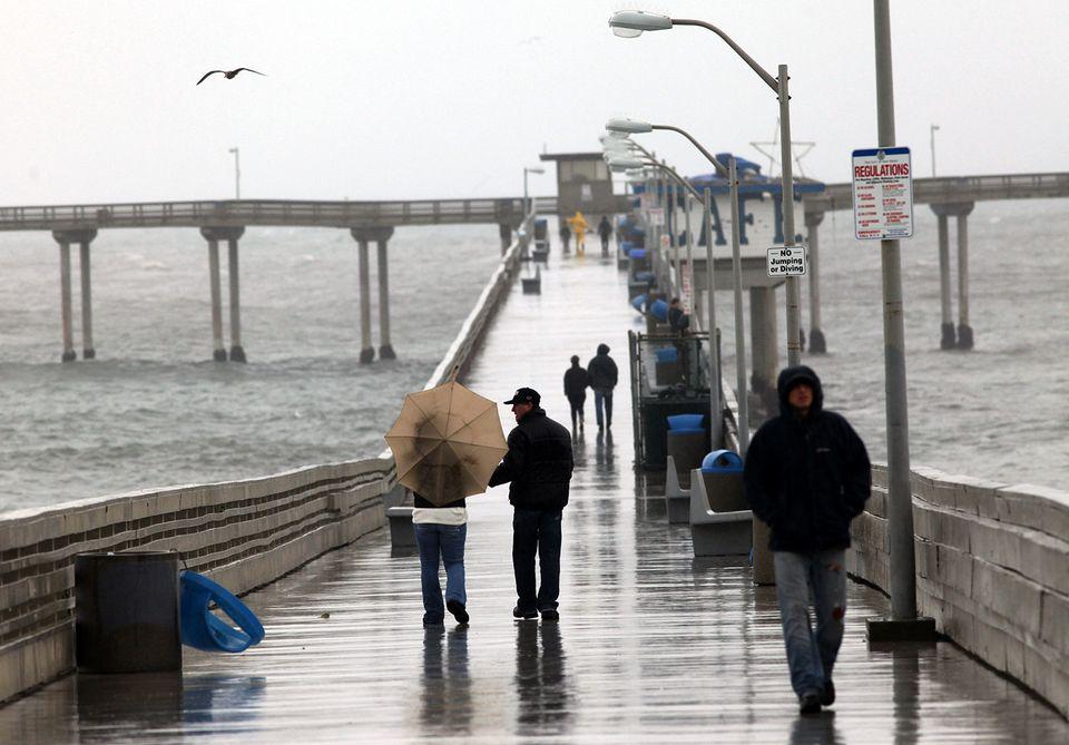 Sur de California trinchera en lluvia