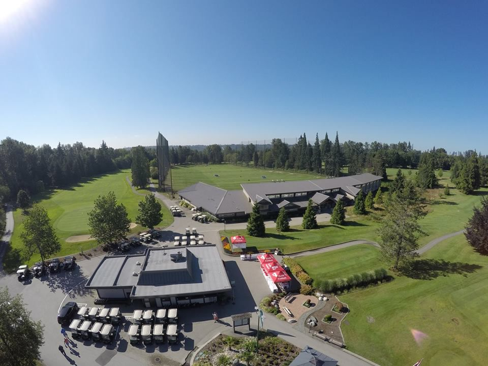 Burnaby Mountain Golf Course & Driving range from above