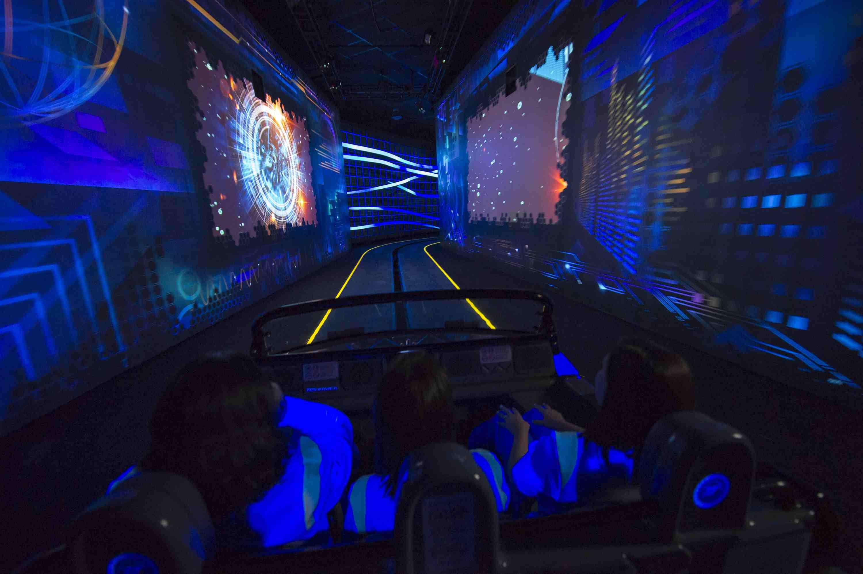 Inside Test Track vehicle.