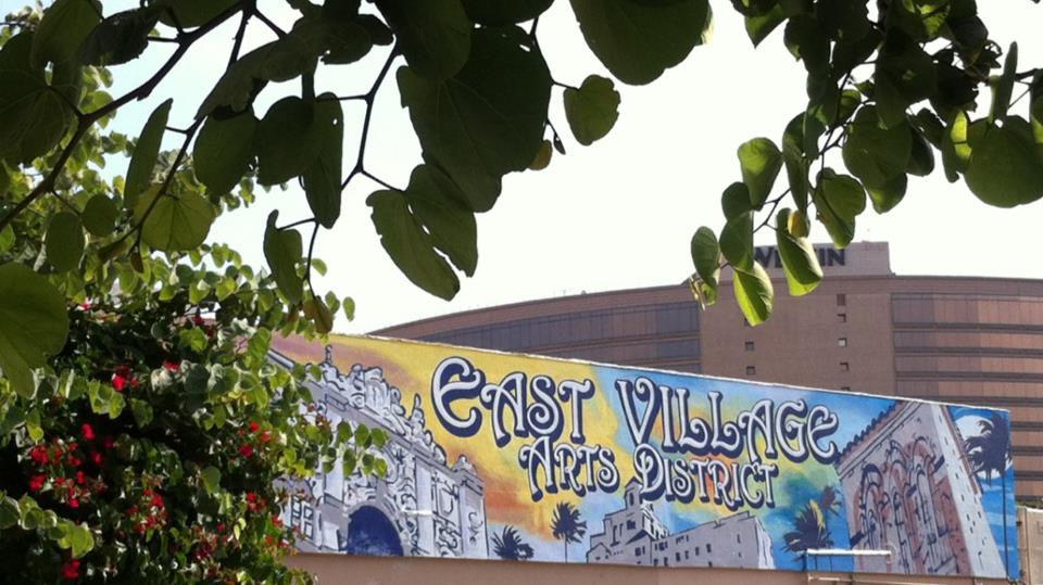 East Village Long Beach Sign