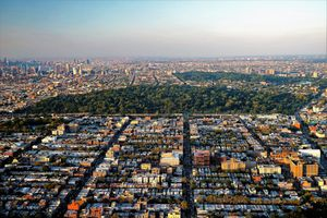 Brooklyn New York with Fort Greene in distance
