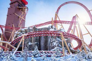 Cannibal roller coaster at Lagoon