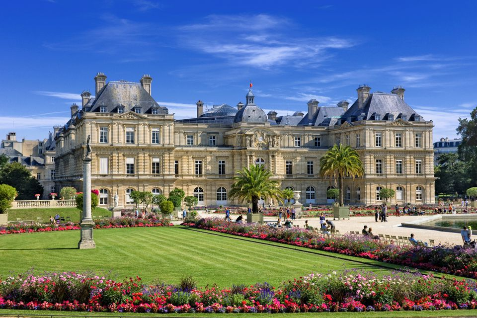 Jardin du Luxembourg in spring, Paris