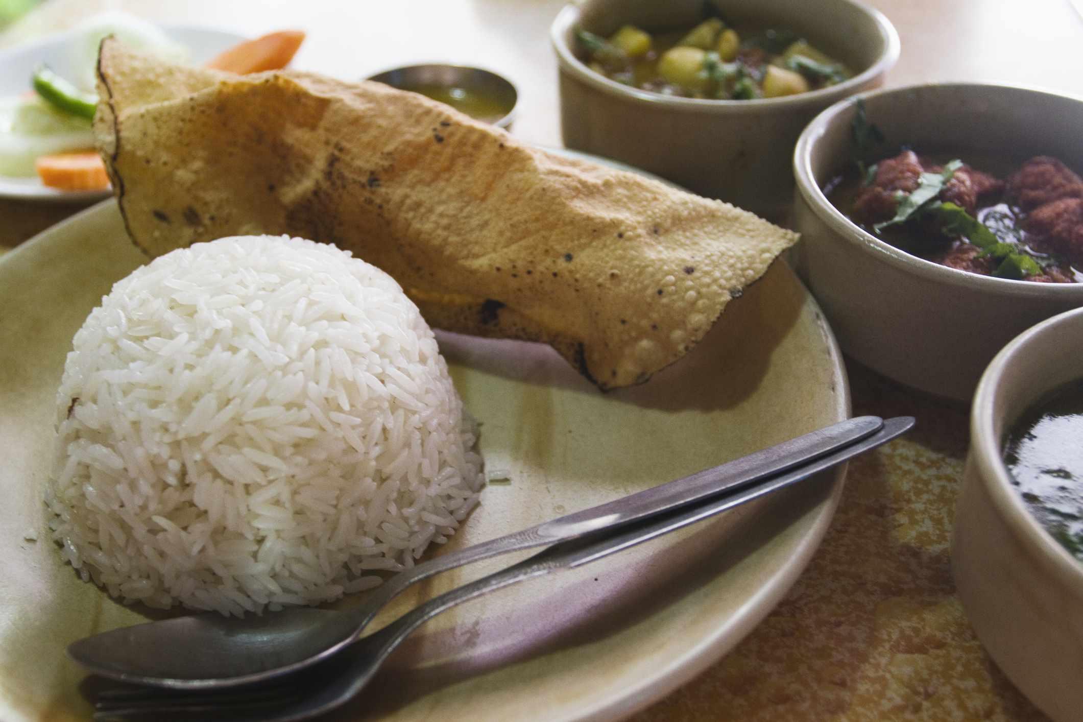 Nepali meal.