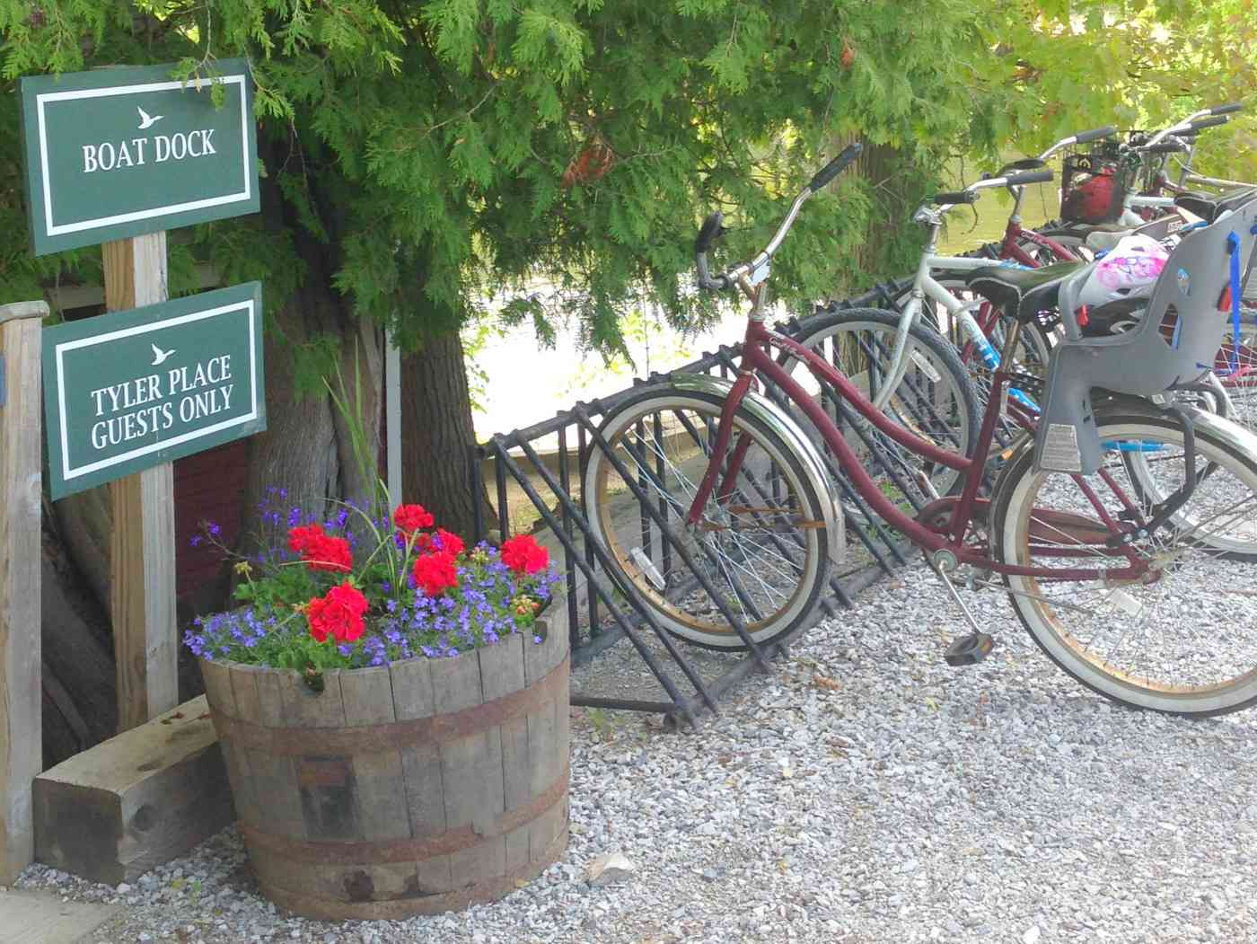 Bicicletas de Tyler Place incluidas en la tarifa