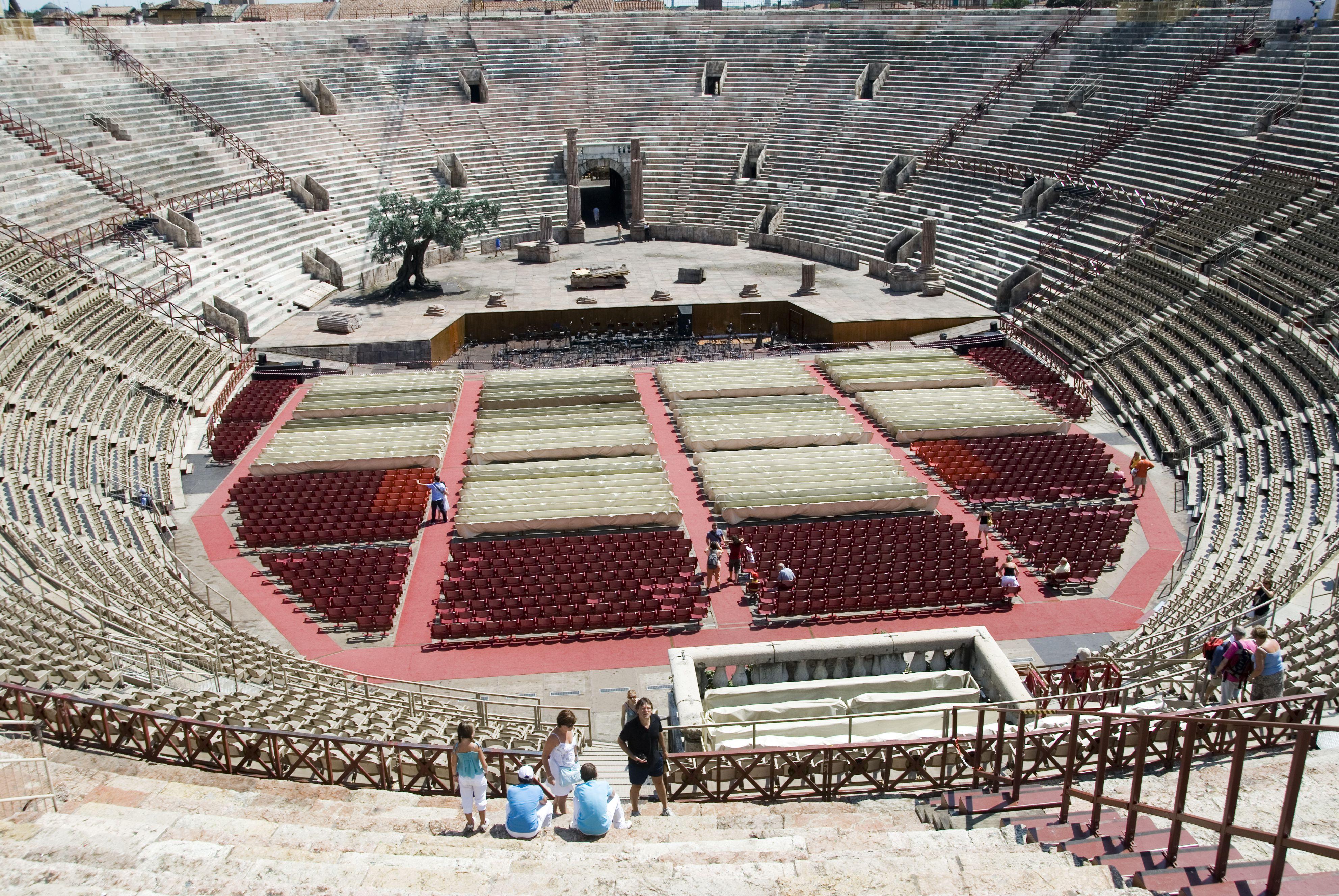 Overhead of 1st-century Roman arena.