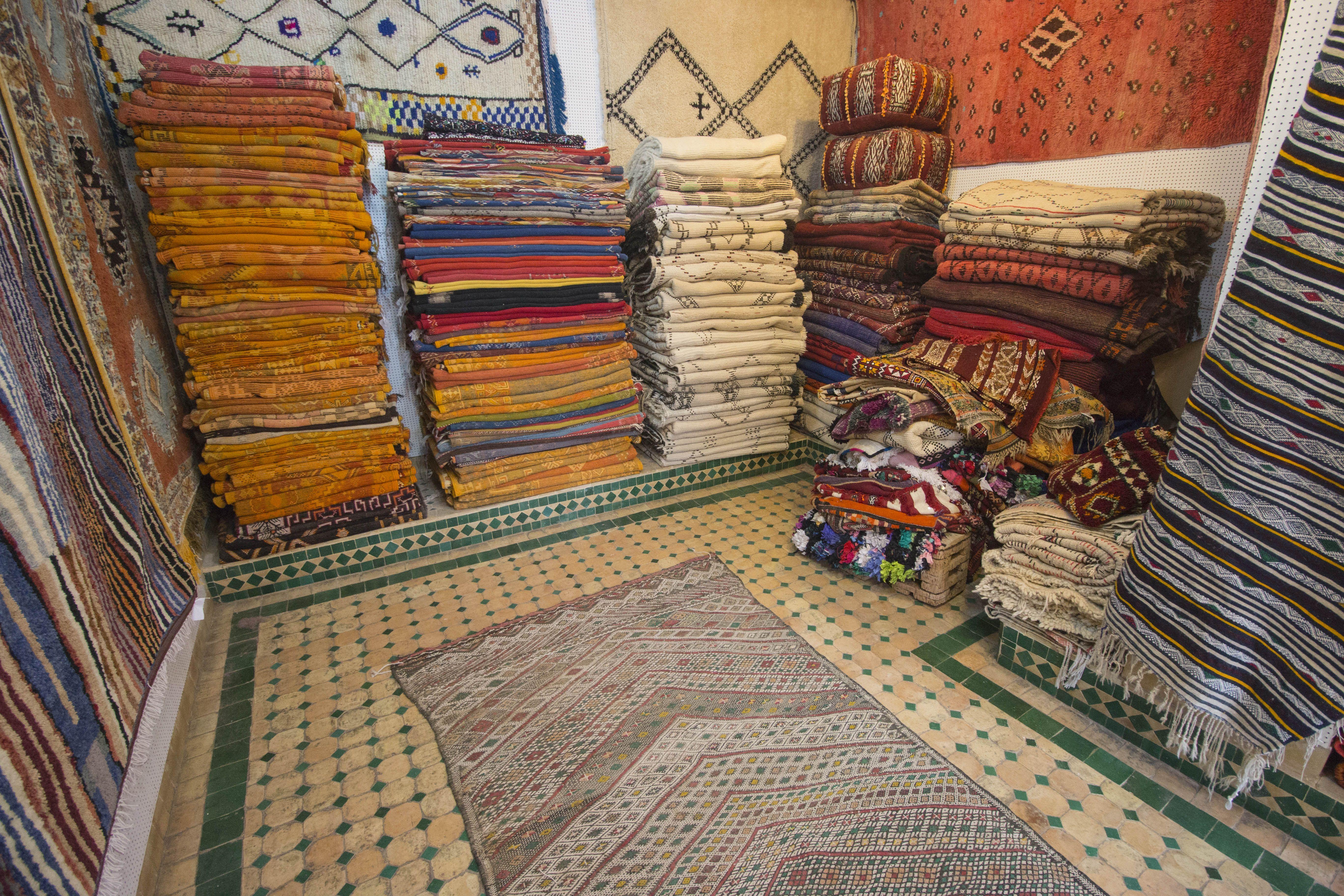 Carpet merchant in Morocco