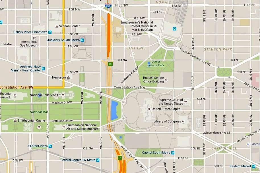 Washington, D.C.: Map of U.S. Capitol Building