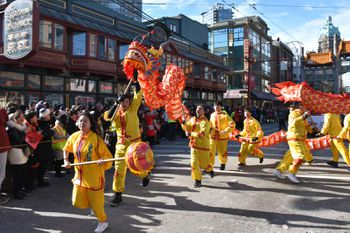 Frederick County Virginia Lion dance (red tiger