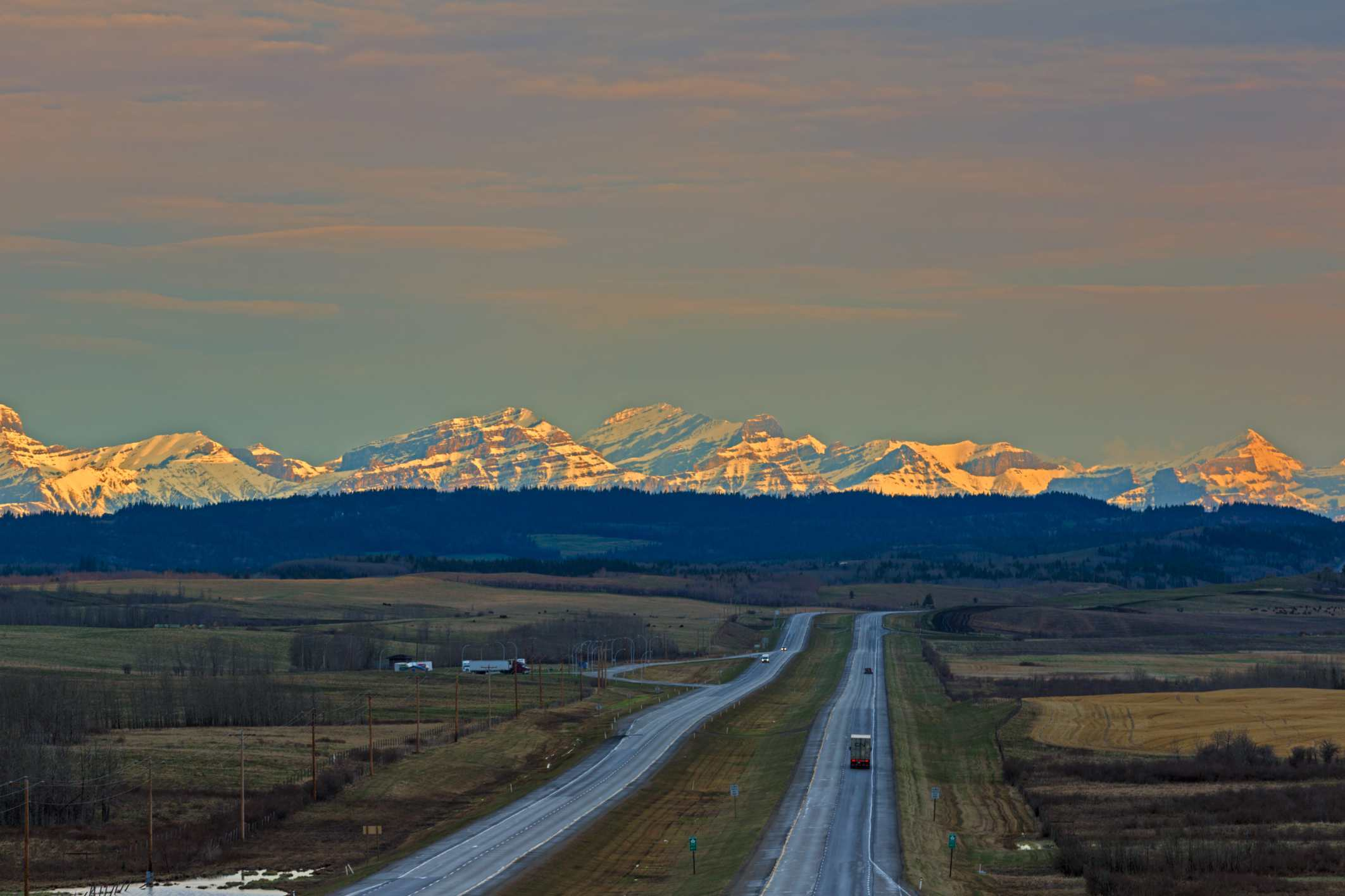 A view of the Trans-Canada Highway in Alberta, British Columbia