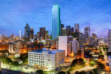Dallas Skyline, Bank of America Building, Blue Hour, Dallas, Texas, America