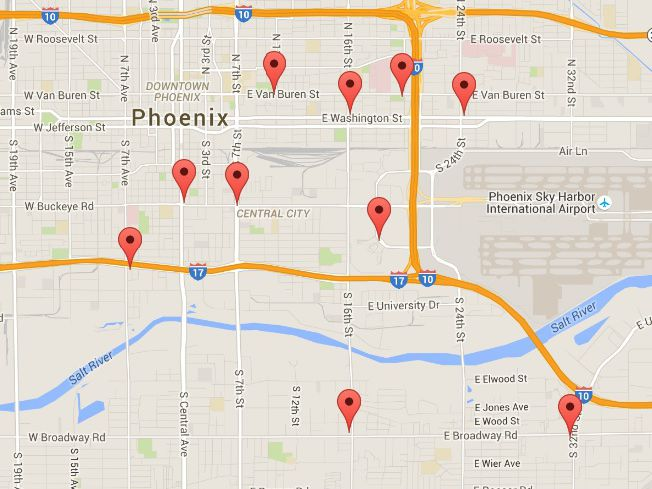 Gas Stations Near Phoenix Airport Rental Car Center