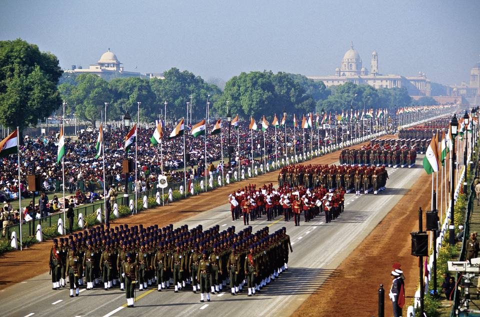 Indian Army marching contingents during Republic Day Parade