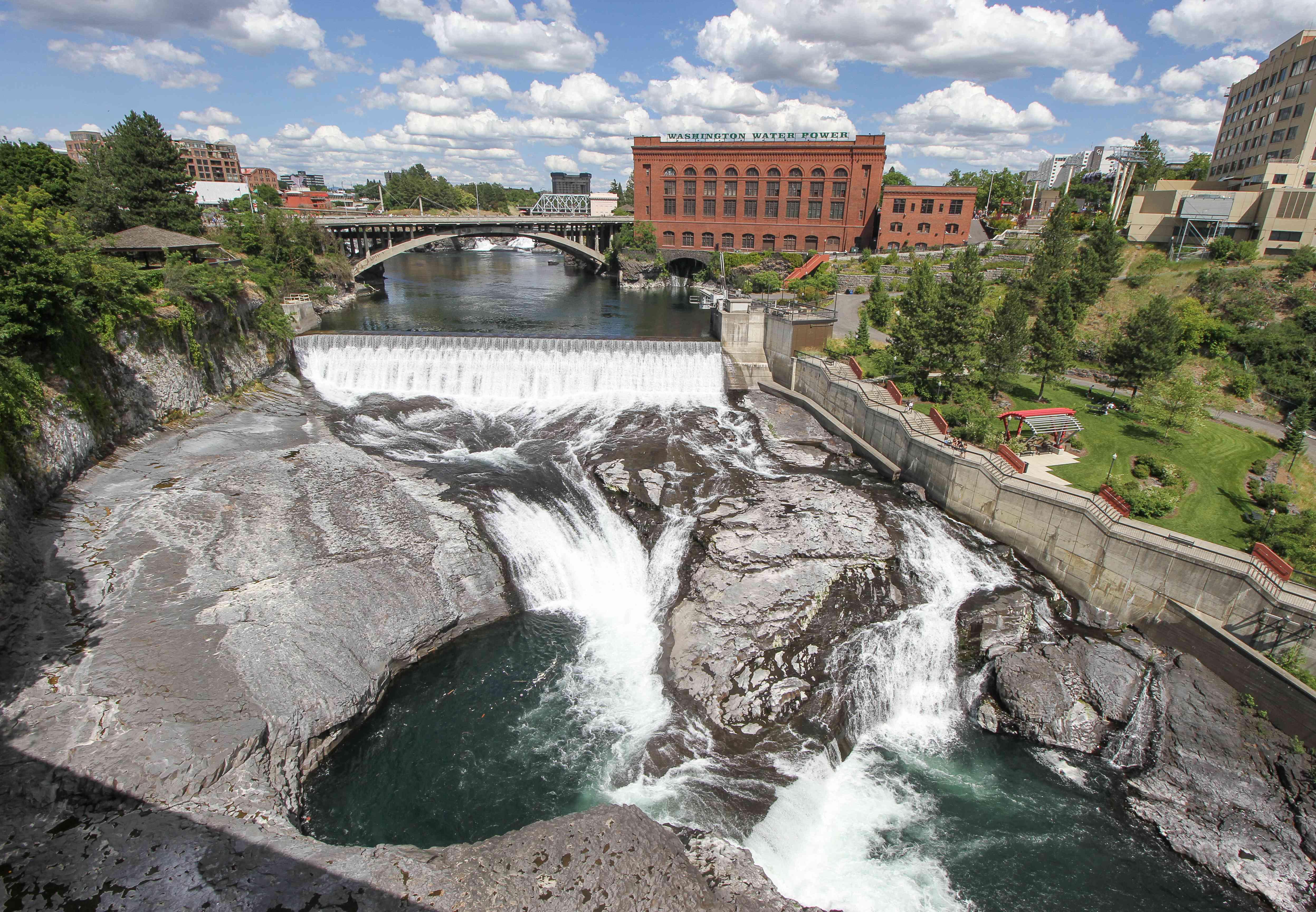 Plano general de las cataratas de Spokane