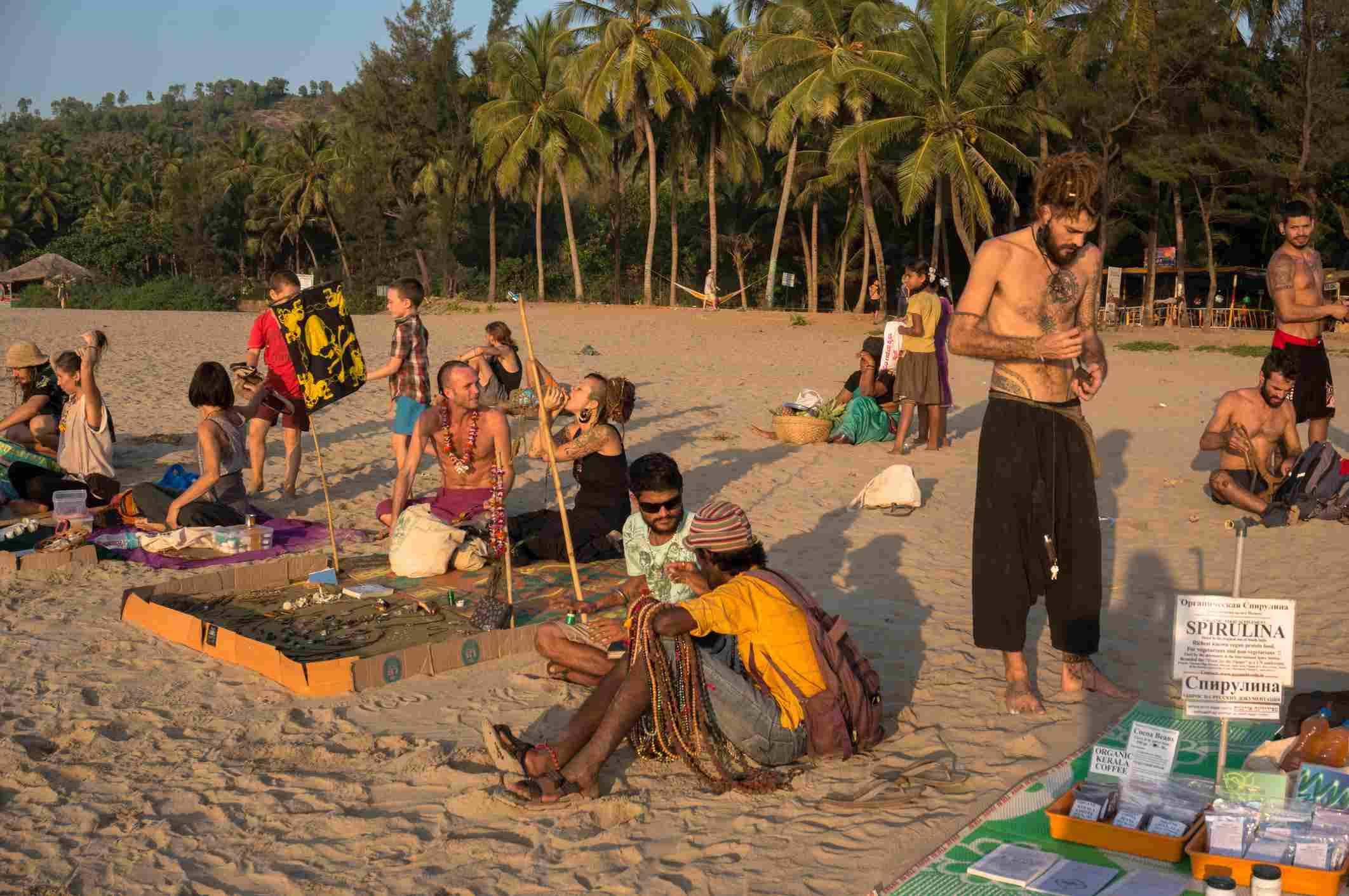 Hippies at Gokarna beach.