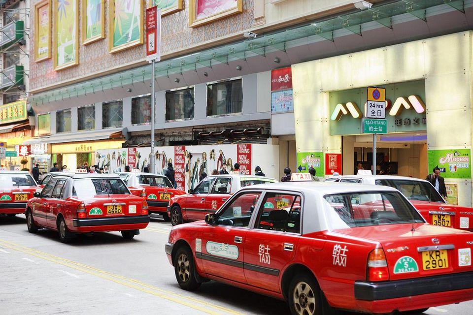 Hong Kong taxi, taxi stand Kowloon