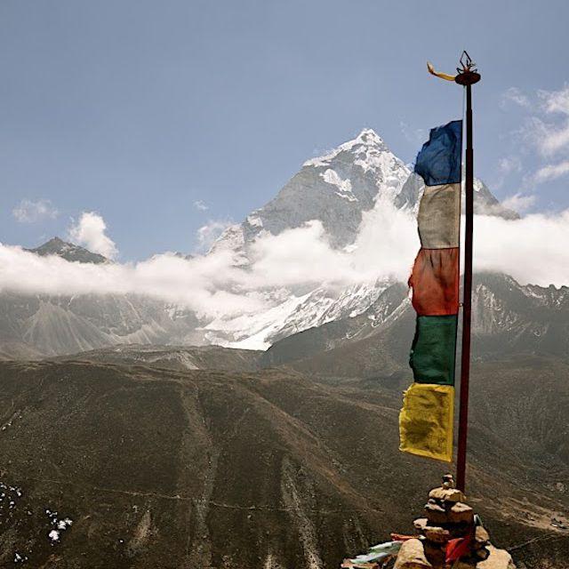 Prayer flags near Everest
