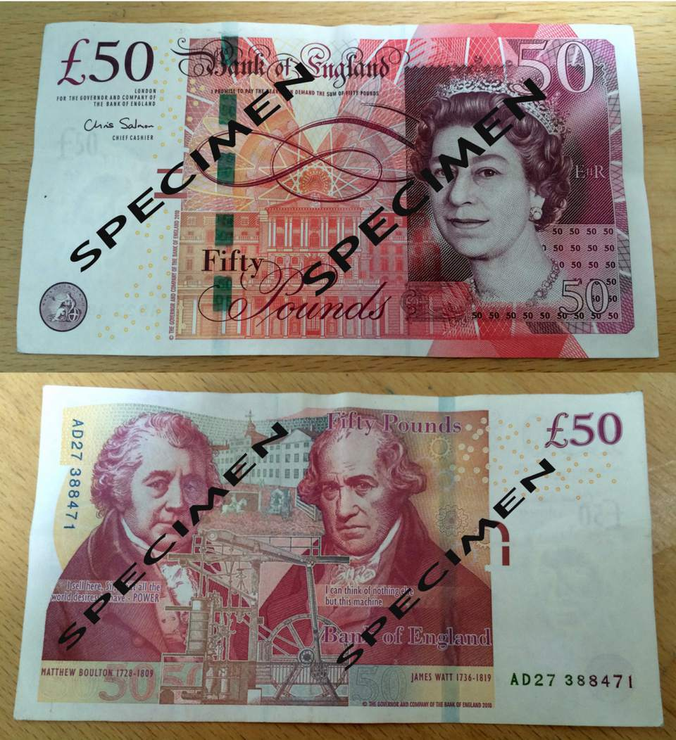 Fifty Pound Note