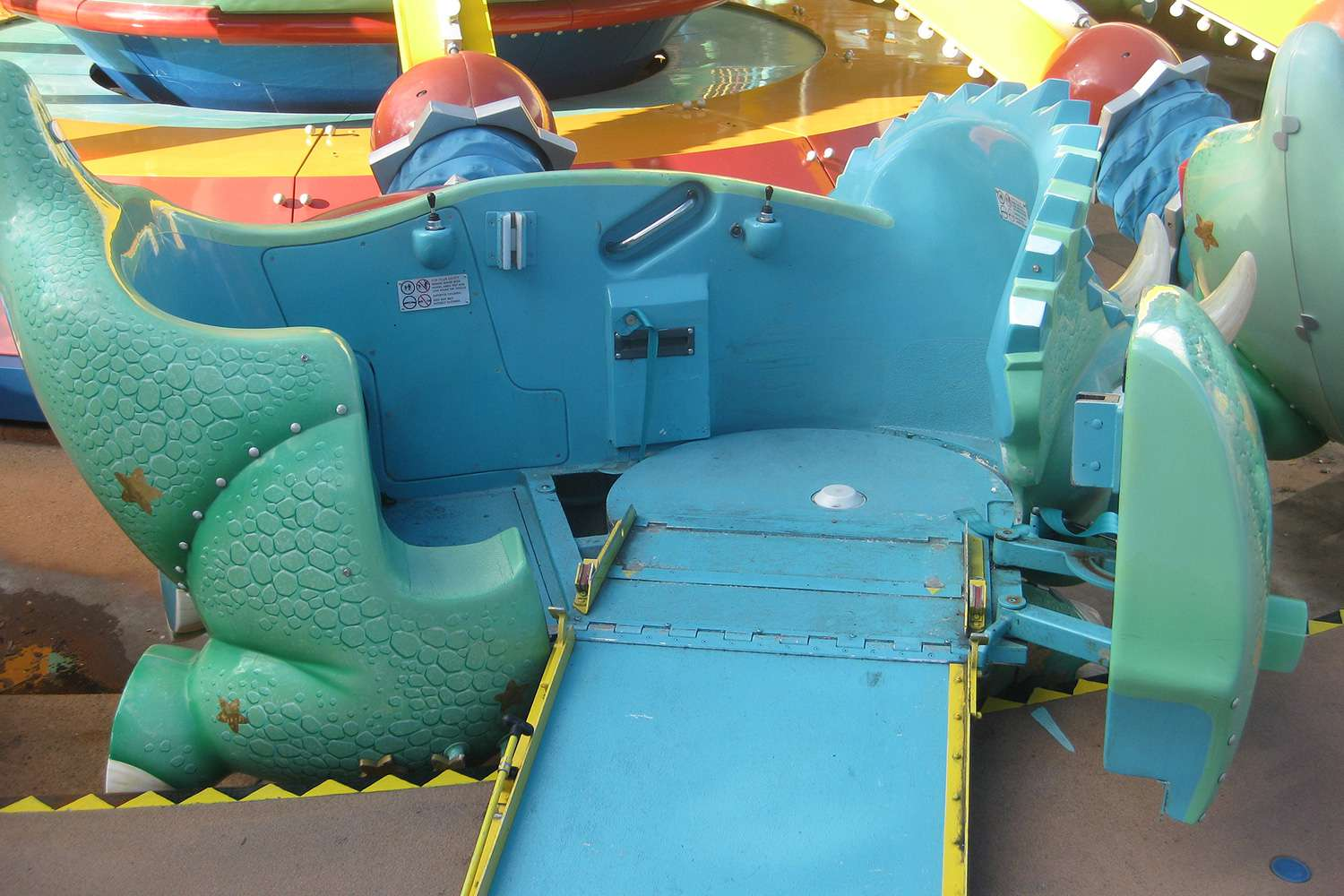 Wheelchair accessible TriceraTop Spin at Walt Disney World