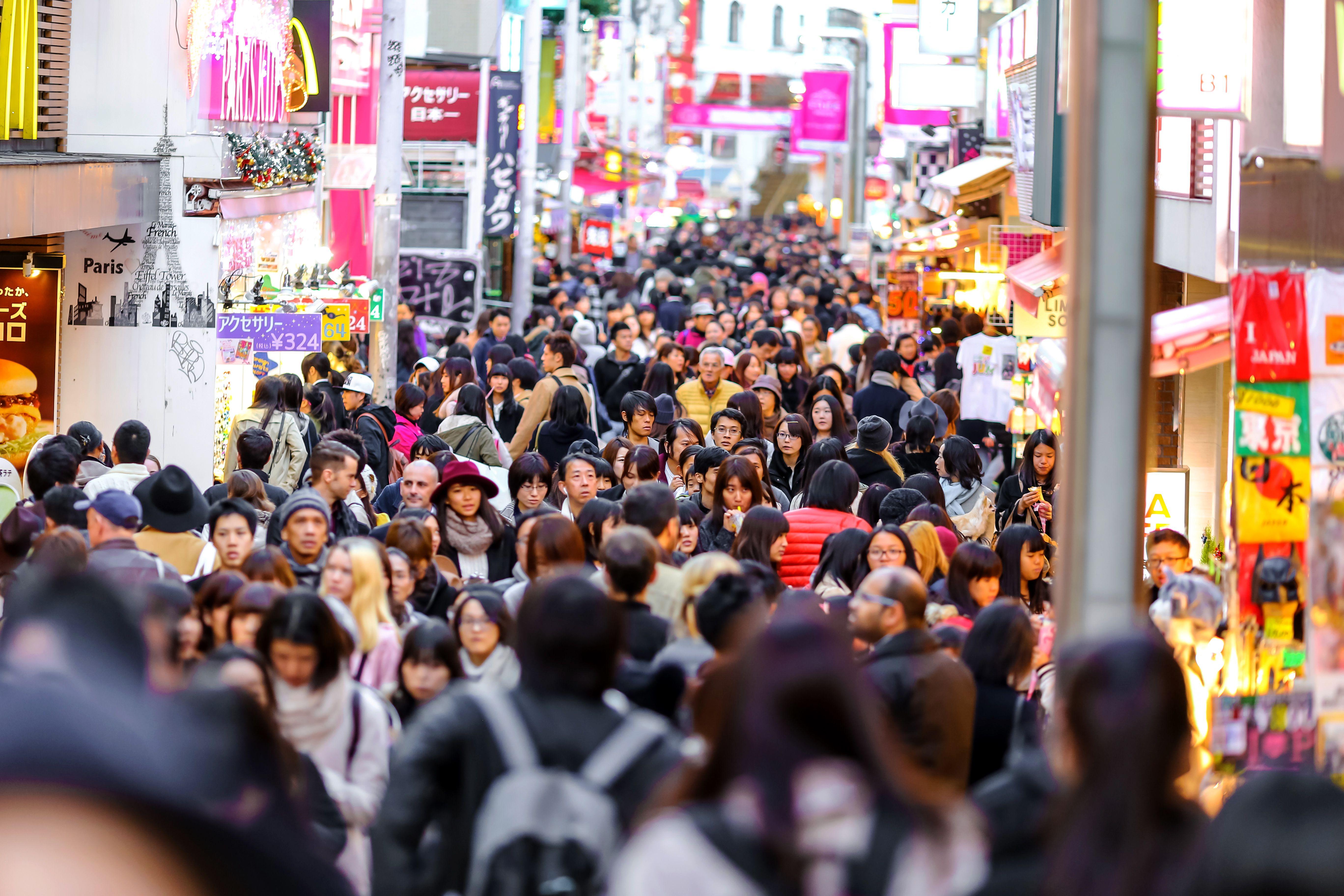 Una calle muy concurrida en Japón