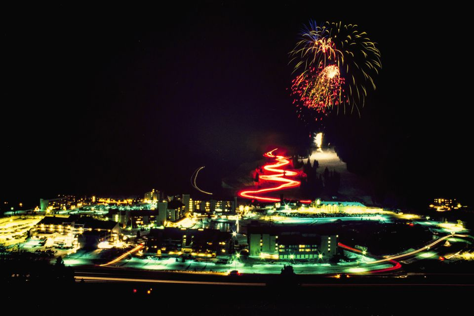 Copper mountain Torchlight parade and fireworks