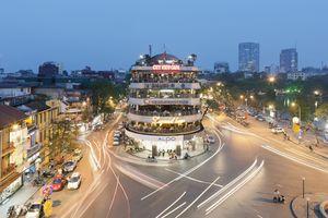 Downtown Hanoi, Vietnam at night