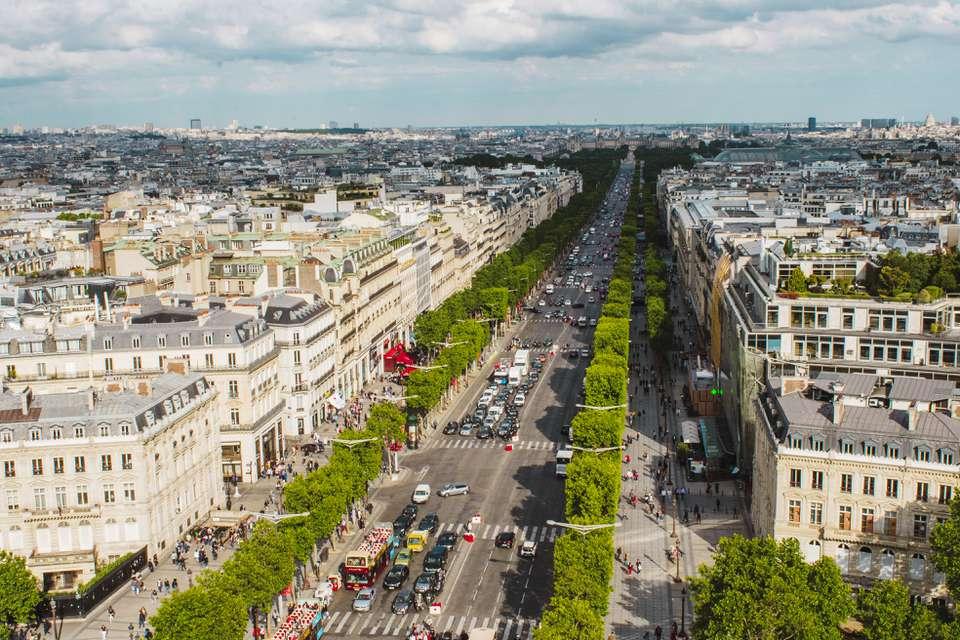 Aerial view of Champs-Elysées