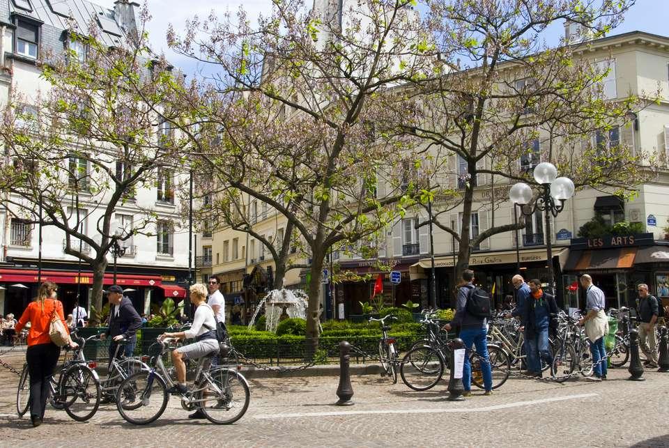 Place de la Contrescarpe is a famous square in Paris' Latin Quarter.