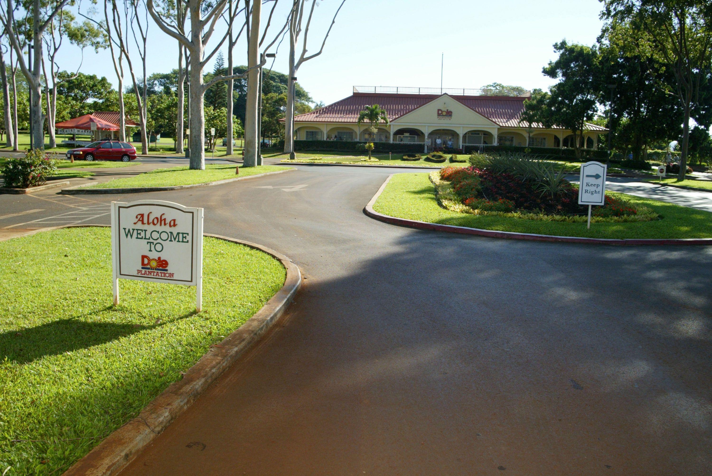 Dole Plantation entrance and center