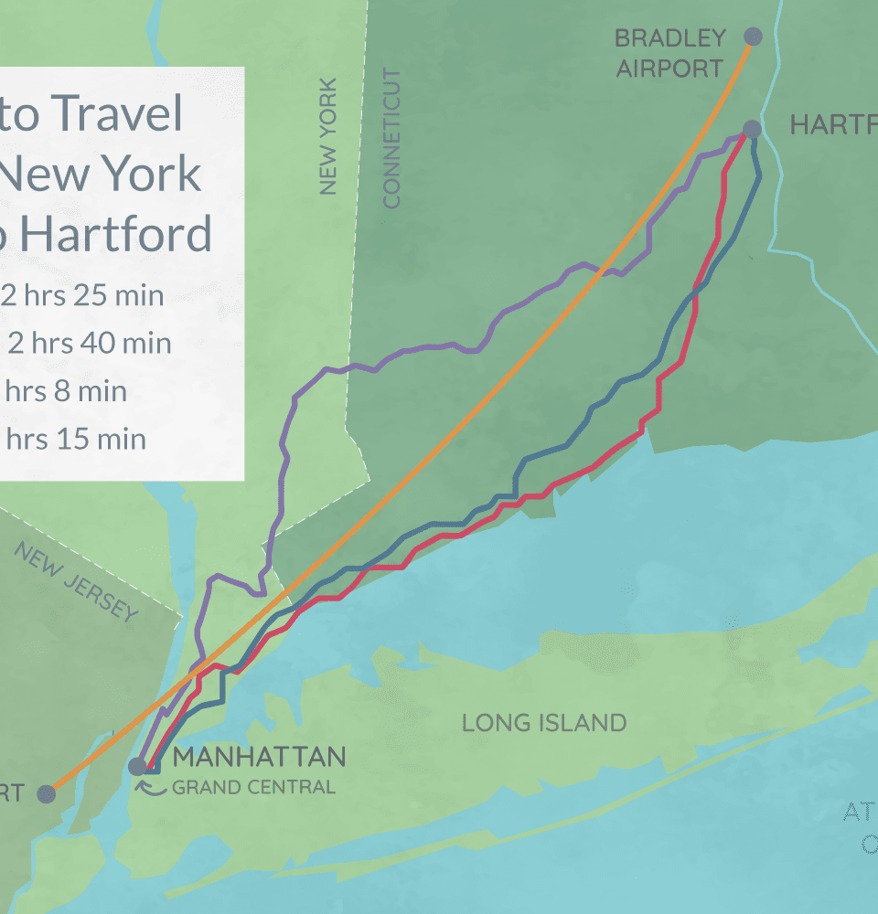 How to Travel From New York City to Hartford