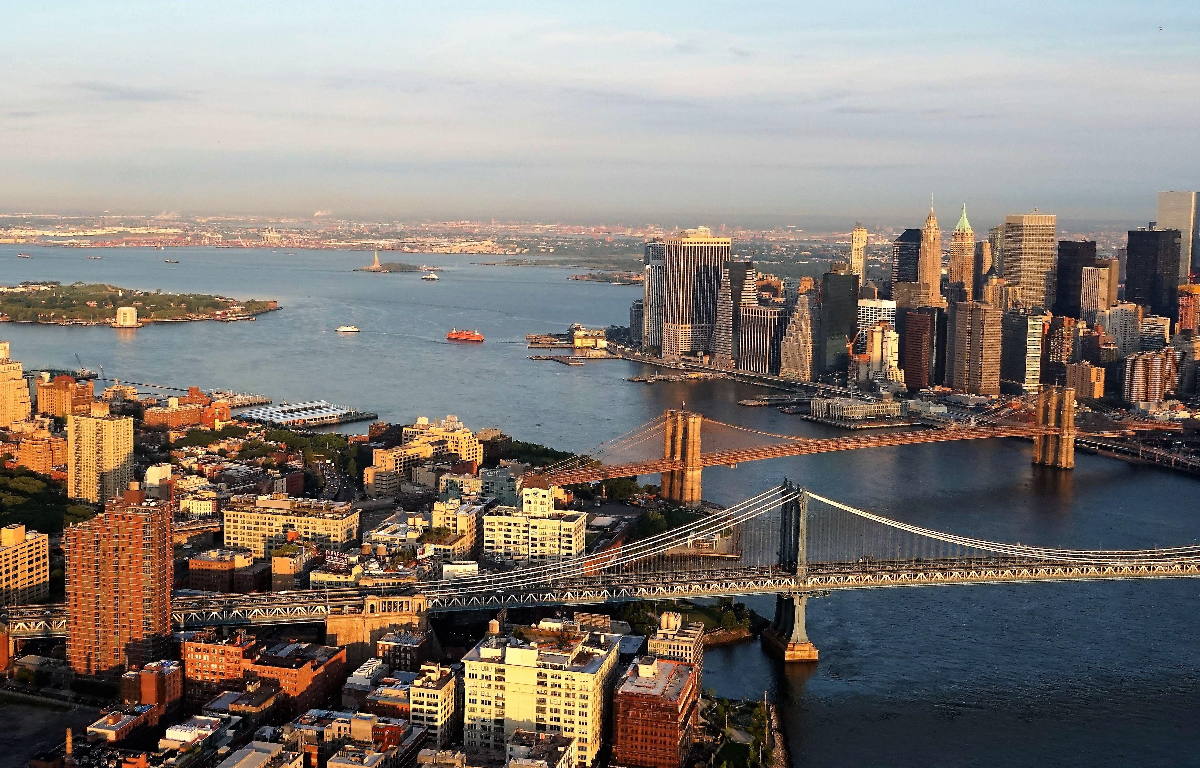 Brooklyn con Manhattan y puentes de Brooklyn