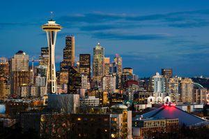 The Seattle skyline.