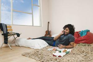 Indian guy relaxing.