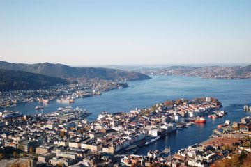 View of the fjord in Bergen