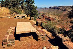 Rest stop along Salt River Canyon, Arizona