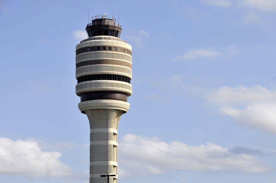 Air traffic control tower, Orlando International Airport, Florida