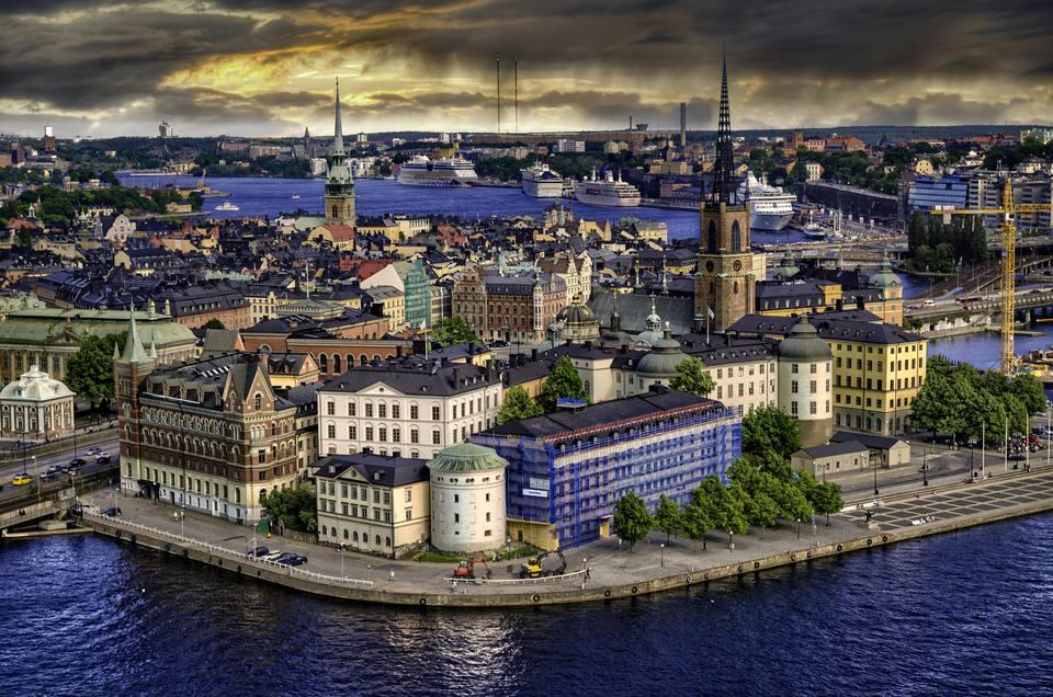 El horizonte de Estocolmo.