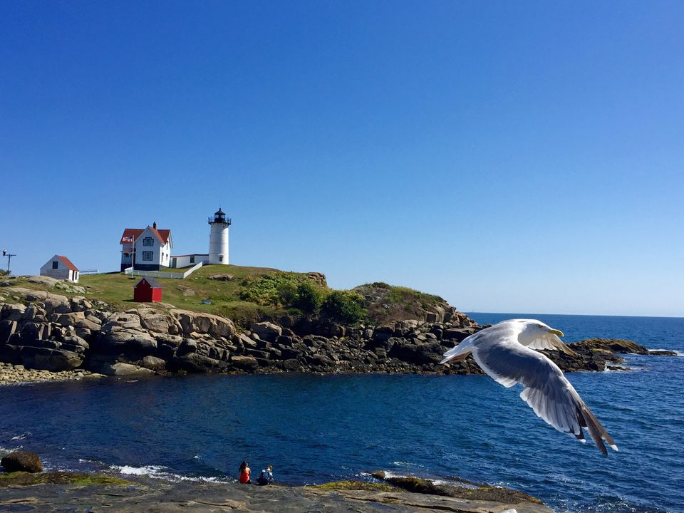 Cabo Neddick Nubble Light en York Beach Maine