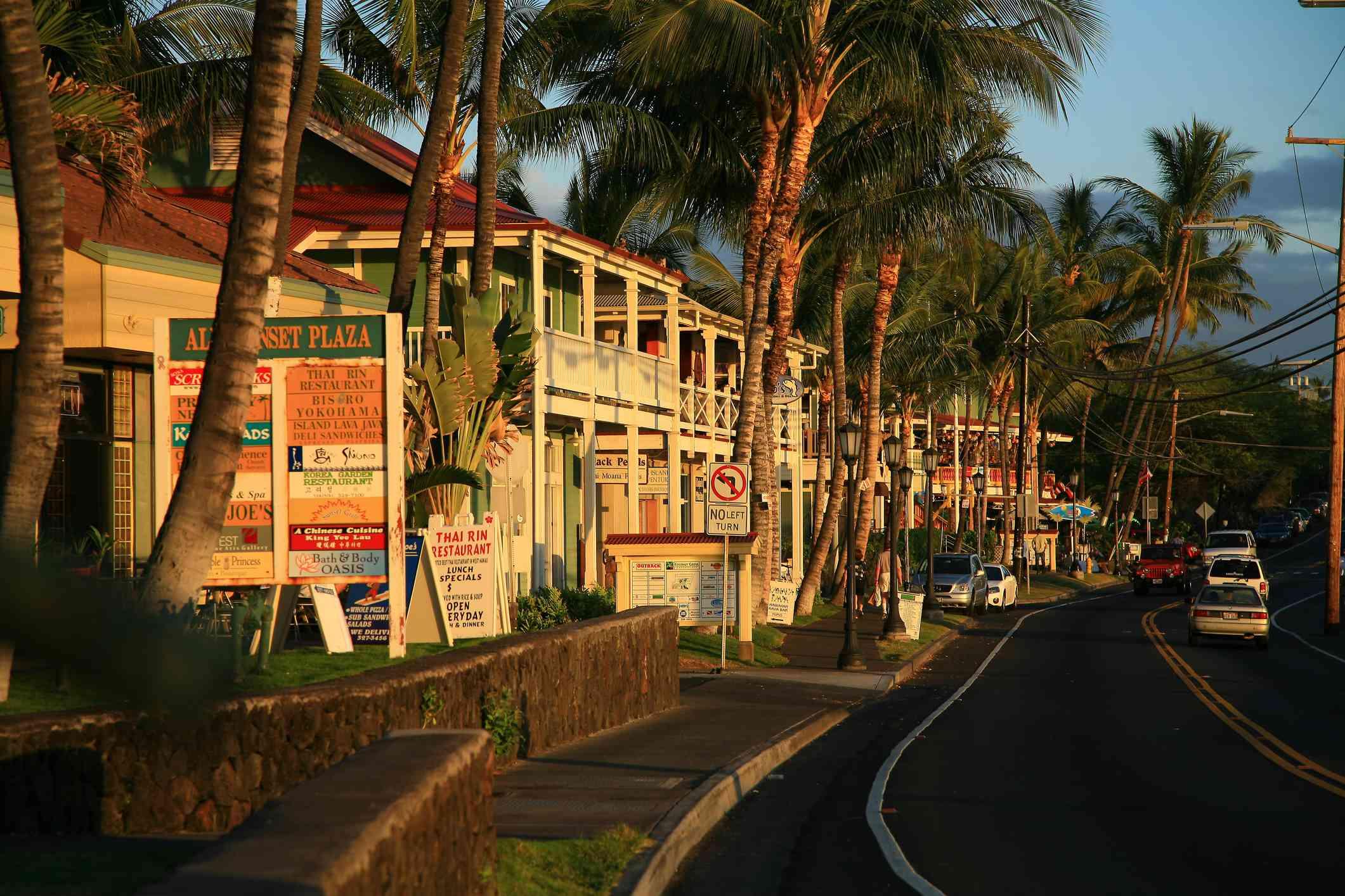 Kailua-Kona town on the Big Island, Hawaii