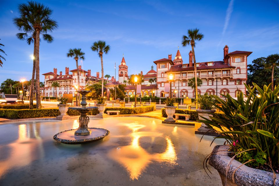 Beautiful architecture in St. Augustine, Florida.