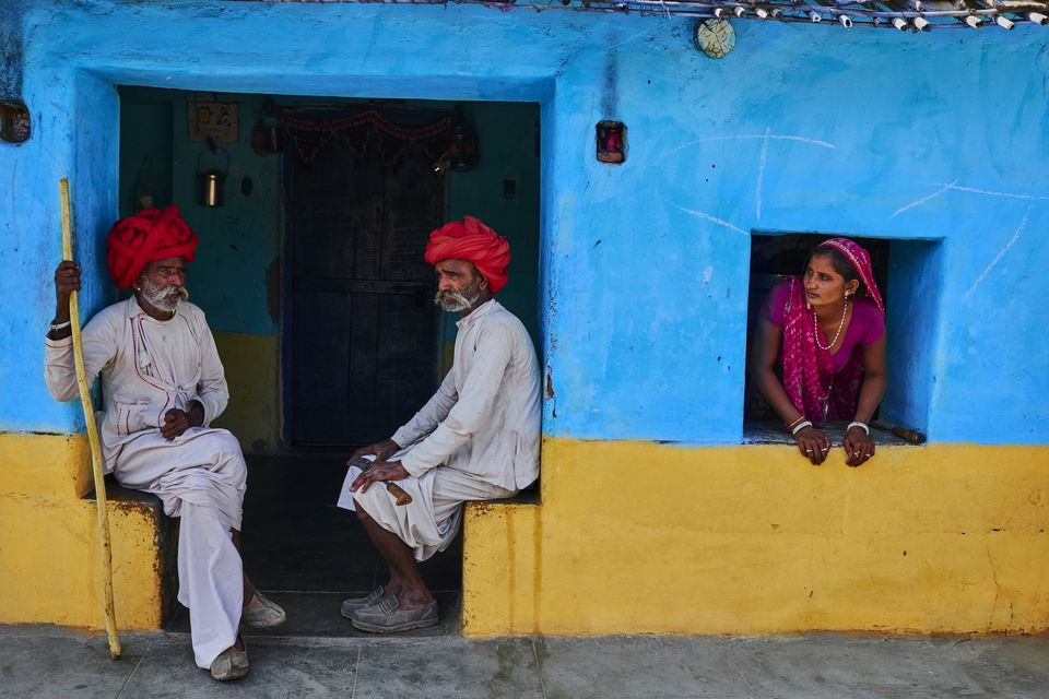 Village in Rajasthan, India.