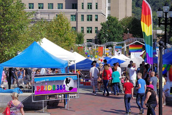 Blue Ridge gay pride festival in Asheville NC