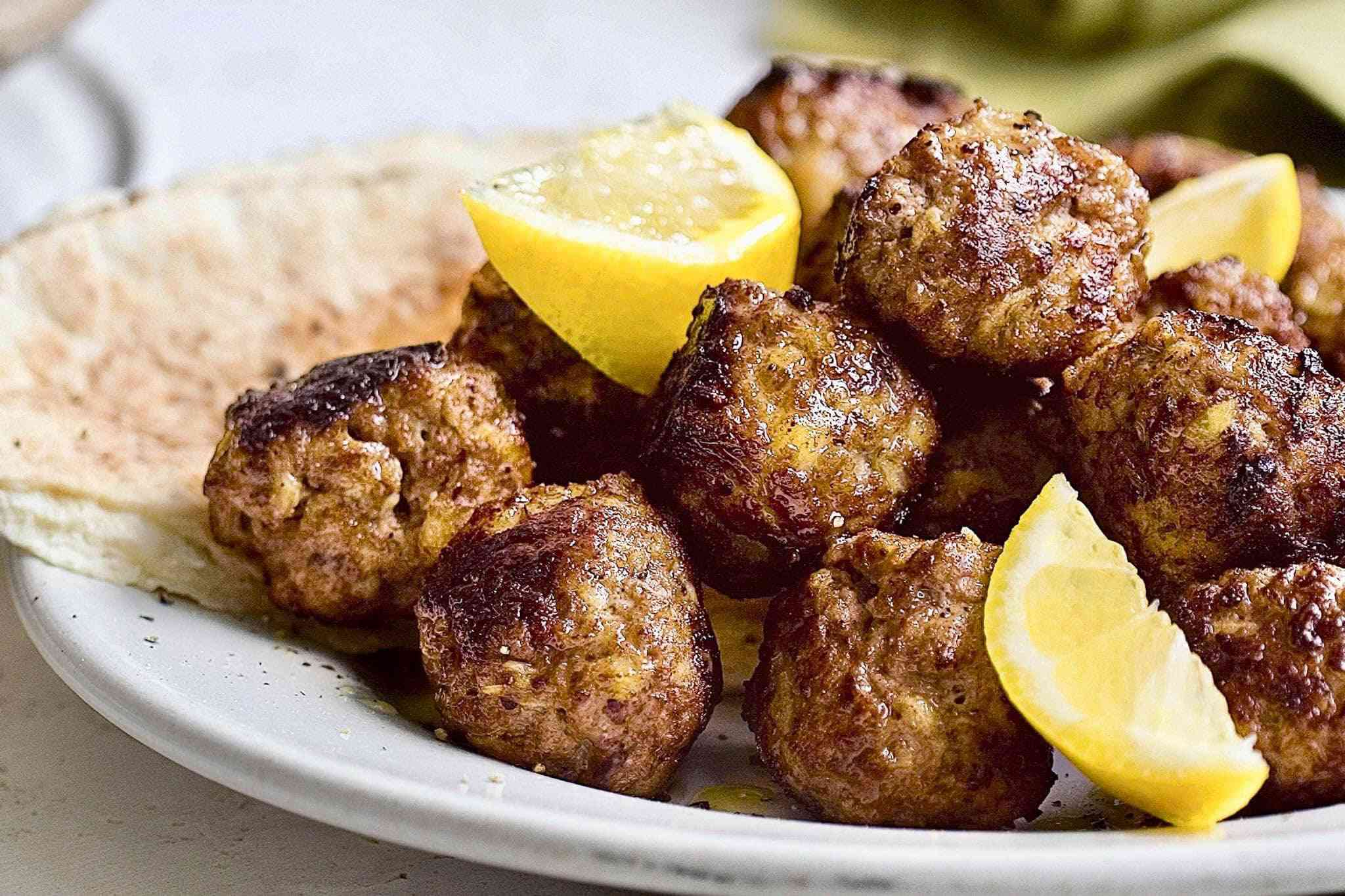 Greek meatballs for Thanksgiving at Victory Garden Cafe