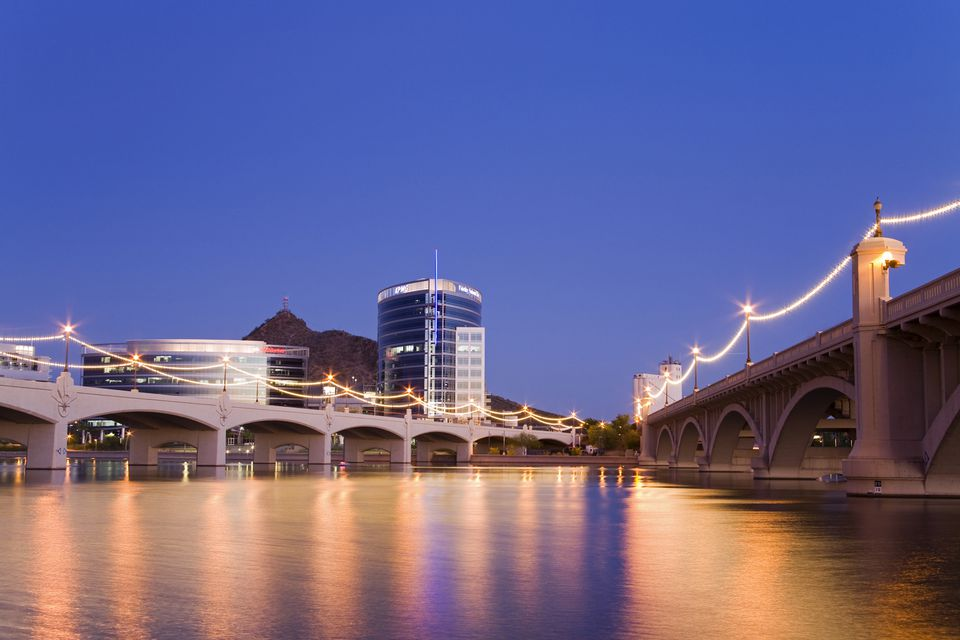 Tempe Town Lake and Mill Avenue Bridge