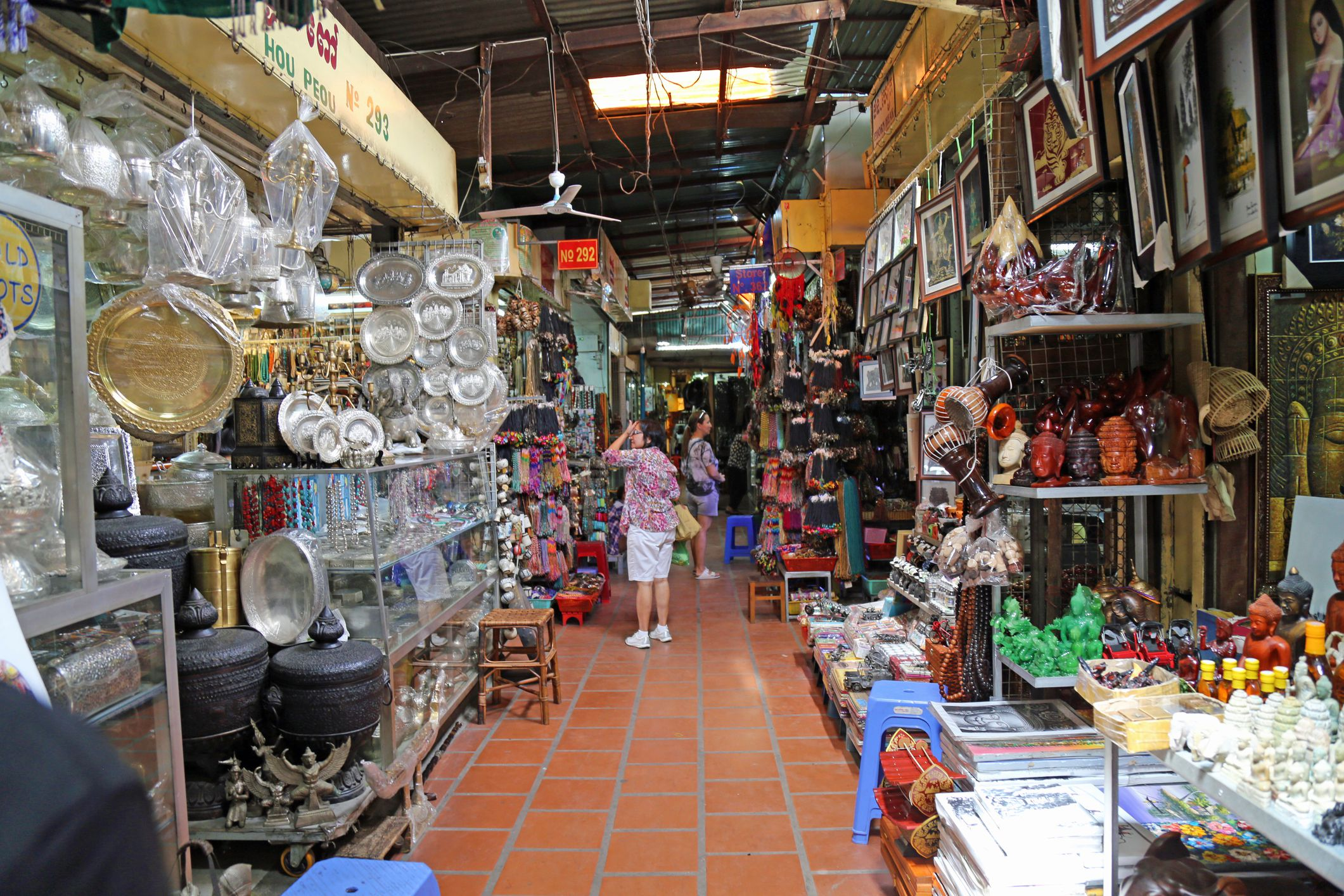 Interior of Russian Market, Phnom Penh, Cambodia