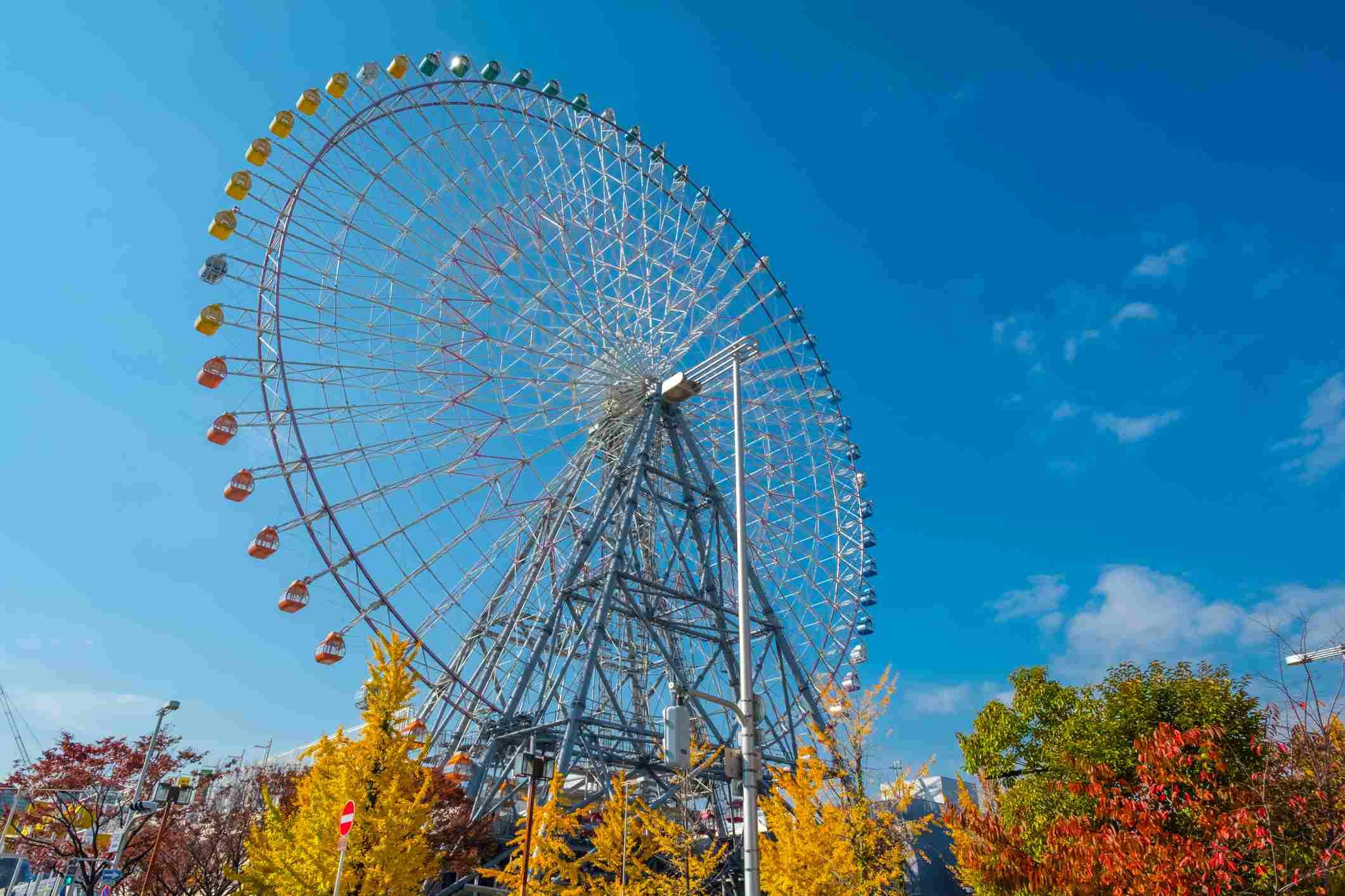 Tempozan ferris wheel in Kyoto, Japan