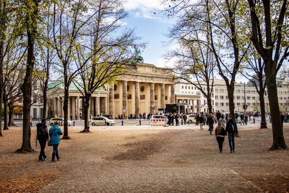 Brandenburg Gate through the trees