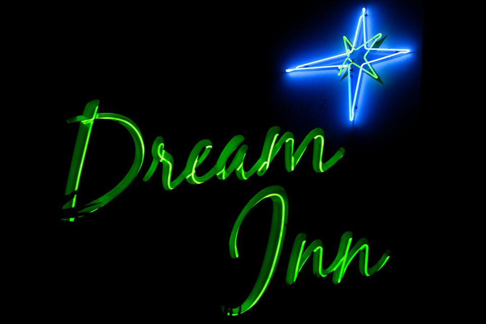 Dream Inn Sign, Santa Cruz California