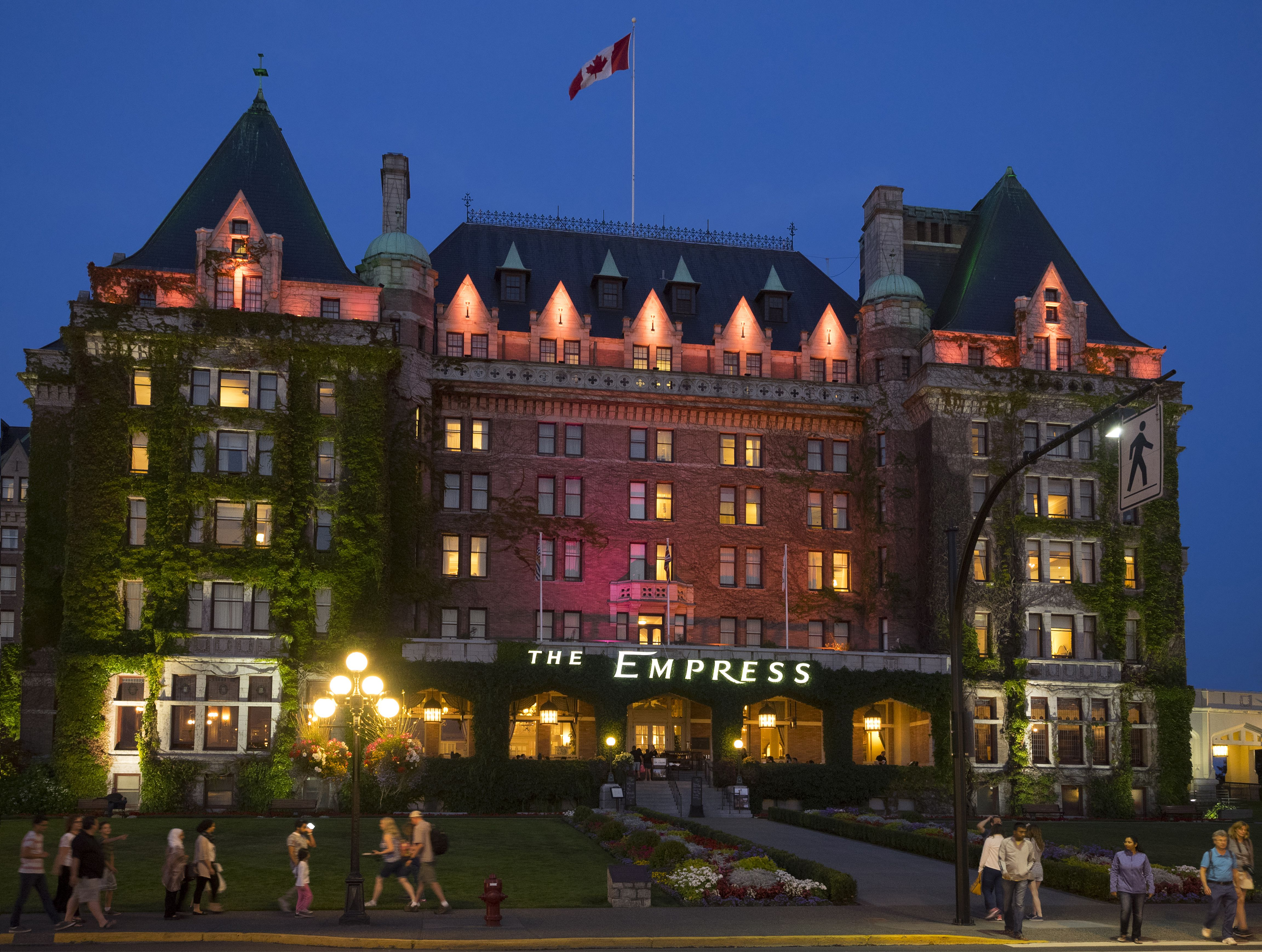 Edwardian style Fairmont Empress Hotel, Victoria, British Columbia, Canada