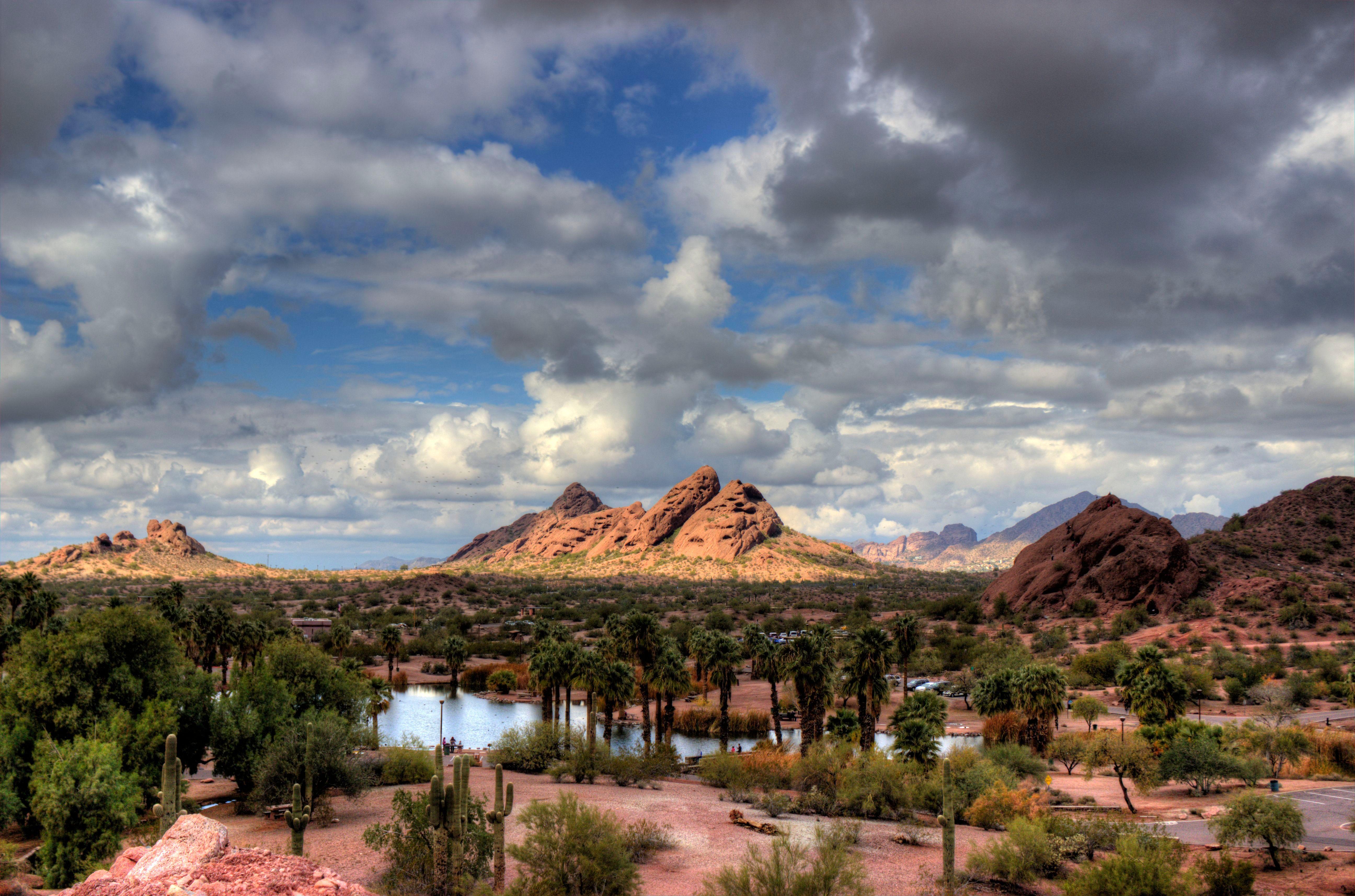 Landscape of Papago Park in Phoenix